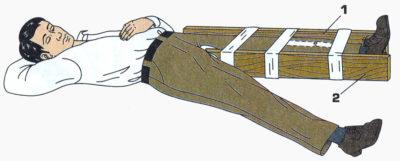 шина на ногу