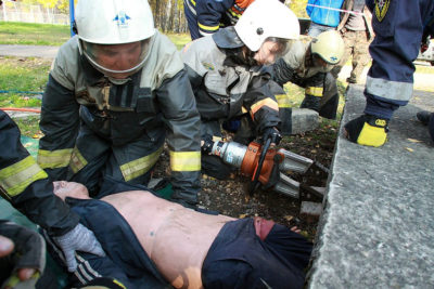 тренировка спасателей