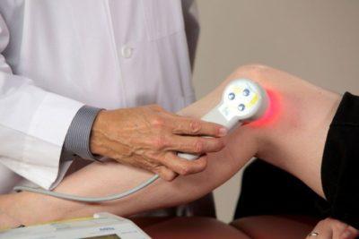 Ультрафиолетовое облучение колена