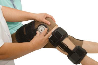 фиксация травмированного колена