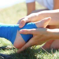 помощь при травме лодыжки