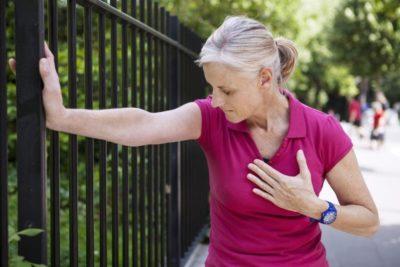 резкая боль в области сердца