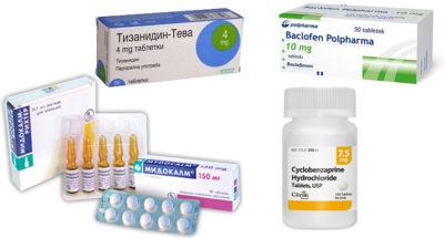 препараты группы миорелаксантов