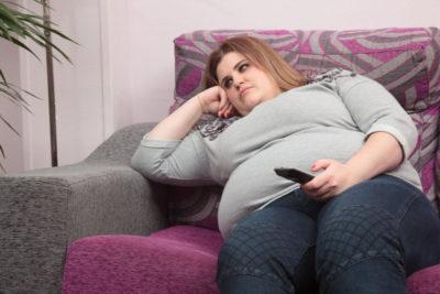 лишний вес и малоподвижный образ жизни