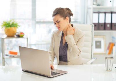 боль в шее при малоподвижной работе