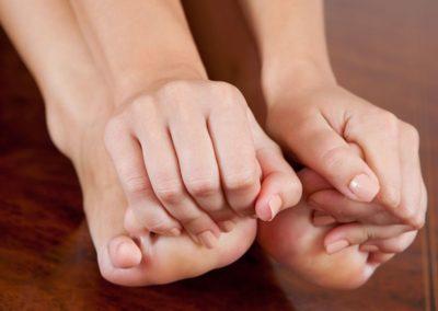 Поражение пальца ноги
